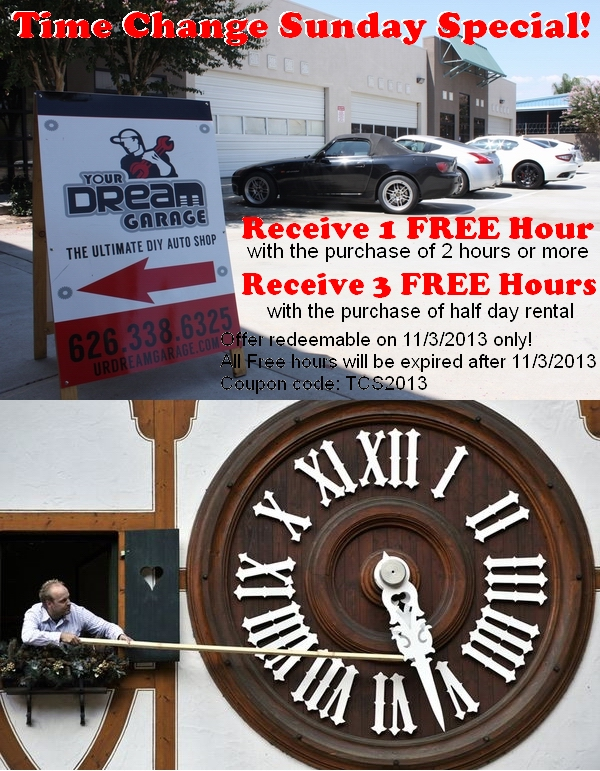 Time change discount